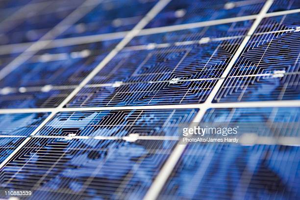 Solar panel, extreme close-up