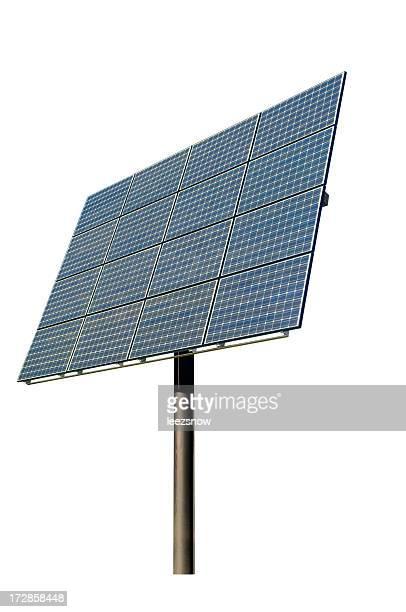 Painel Solar isolado a branco