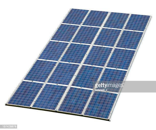 solar panel isolated on white with clipping path - solar energy dish stock pictures, royalty-free photos & images