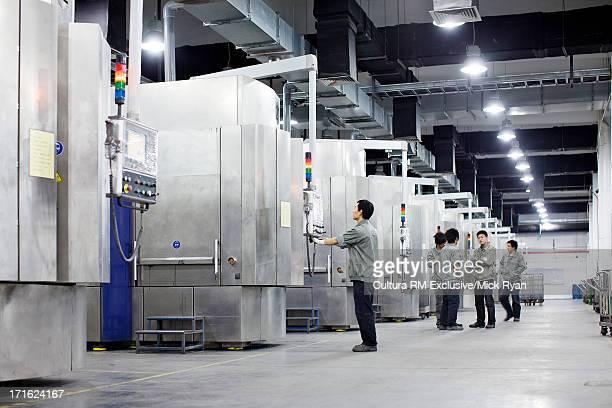 Solar panel manufacturing plant, Shanghai, China