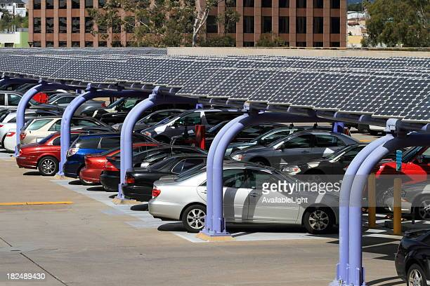 Solar Panel Parking Structure