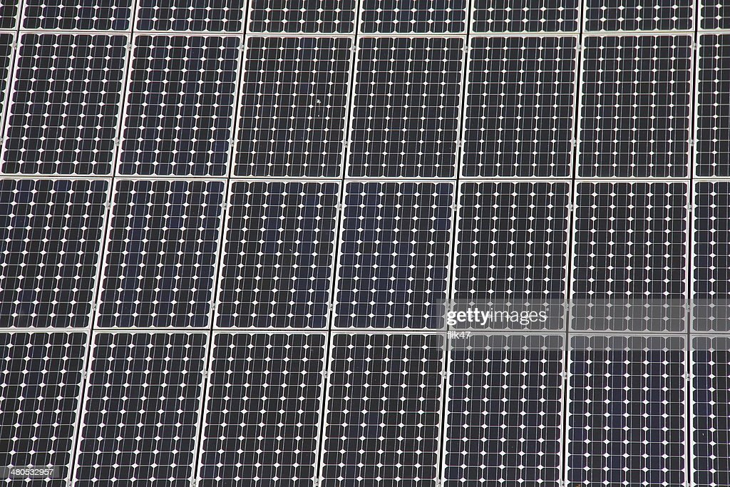 Solar panels allow the production of clean energy : Stock Photo