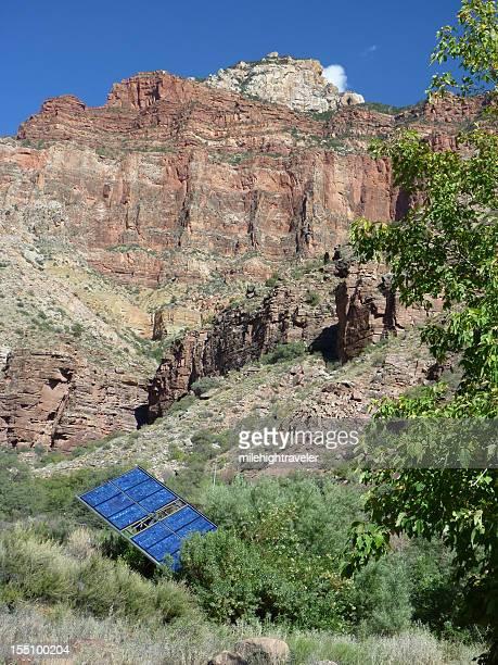 Solar panels at Grand Canyon Cottonwood Campground Arizona Vertical
