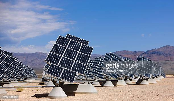 Solar panels at Nellis Air Force Base in Las Vegas Nevada Nellis has the largest solar installation in the entire Western Hemisphere More than 72000...