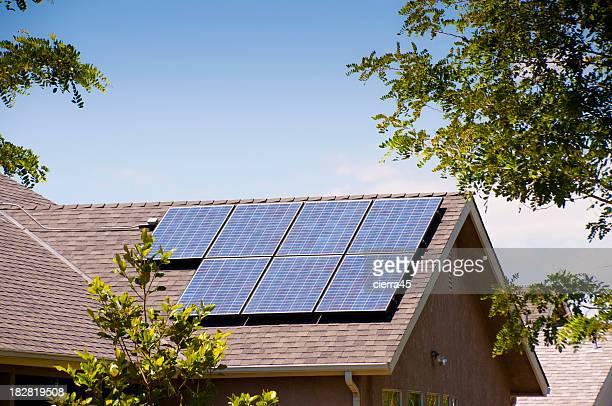 Solarkollektoren Ansicht der Rückseite