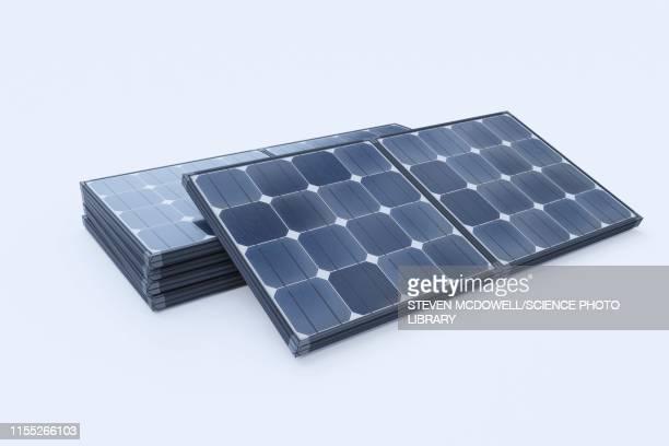 solar panels, illustration - steuerpult stock-fotos und bilder