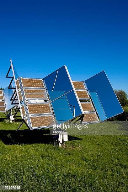 solar panels in nature 02 - solar mirror stock pictures, royalty-free photos & images