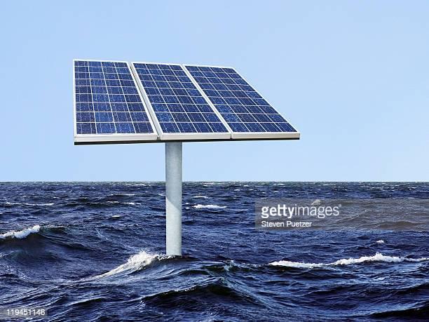 Solar panels in the ocean