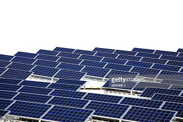 Solar Panels Isolated on White with Clipping Path