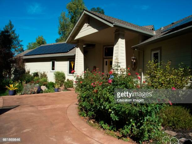 Solar panels on house in Forestville California