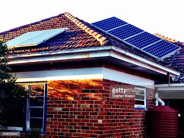 Solar panels on tiled roof Thornbury Melbourne Australia