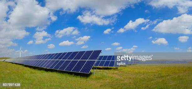 Solar Panels, Photovoltaic array at the Inner Mongolia of China.