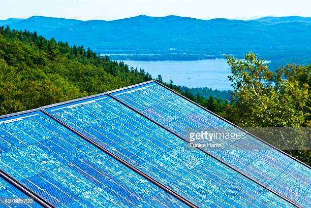 solar panels - lake george new york stock pictures, royalty-free photos & images