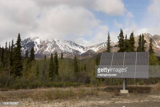 Solar panels Tombstone Territorial Park Interpretive Center Yukon Dempster Highway Ogilvie Mountains