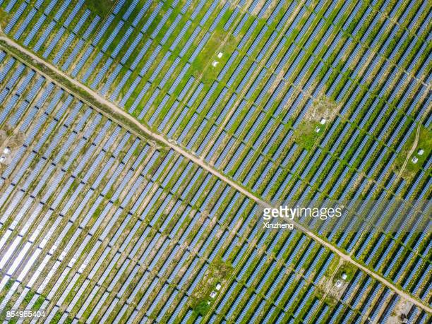 solar plant - solar powered station stock pictures, royalty-free photos & images