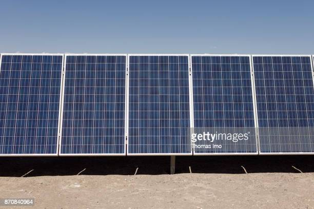 Solar Plant Planta Solar Jama located in the Atacama Desert on October 17 2017 in Atacama Desert Chile