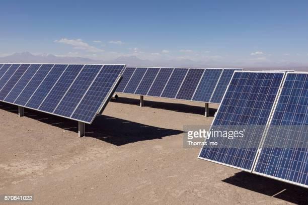 Solar Plant Planta Solar Jama located in the Atacama Desert on October 17 2017 in Atacama Desert Chile