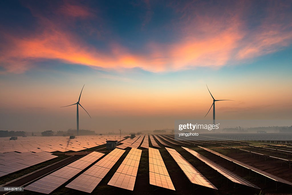 Solar power plant : Stock Photo