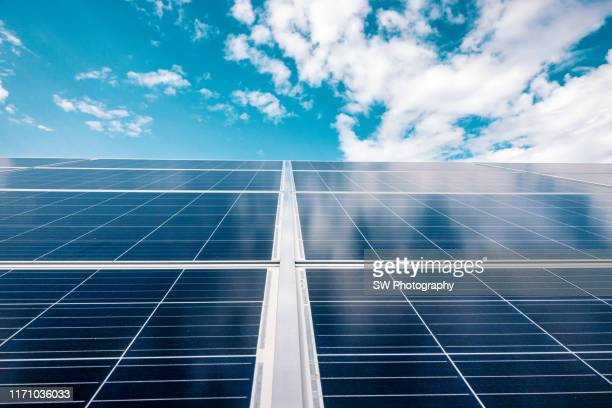 solar power plants in poland - solar energy stock pictures, royalty-free photos & images