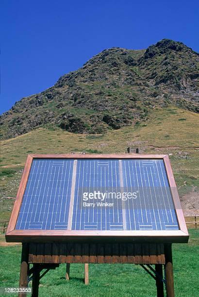 Solar power receptors in the Spanish Pyrenees/Costa Brava, Nuria, Spain