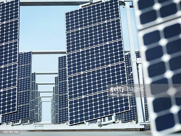 solar power station front panels - monty rakusen stock-fotos und bilder