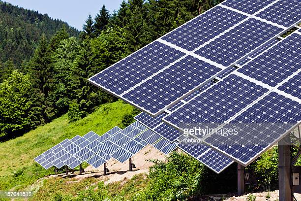 solar power station - solar energy dish stock pictures, royalty-free photos & images