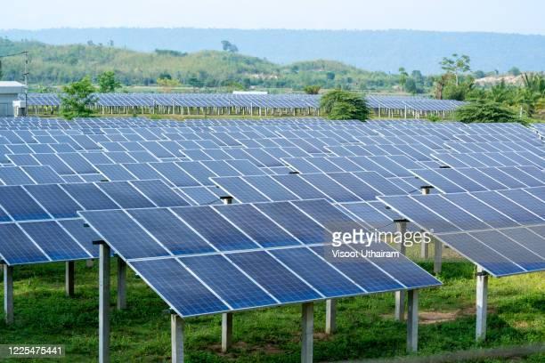 solar power station,concept of green new energy. - steuerpult stock-fotos und bilder