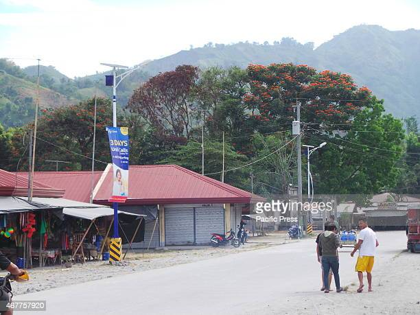 BOLI SOUTH COTABATO PHILIPPINES Solar powered streetlights are found on the major street of T'boli town in South Cotabato Mindanao Mindanao is...
