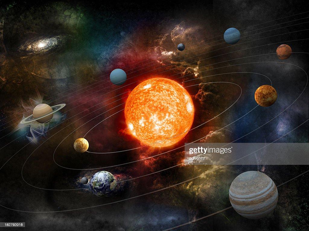 Solar system : Stock Photo