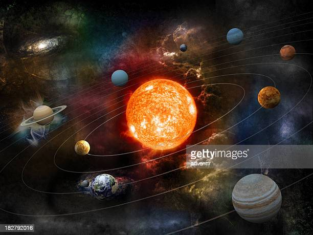 solar system - solar system stock pictures, royalty-free photos & images