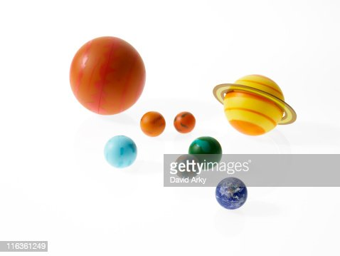 Solar System Planets On White Background Stock Photo