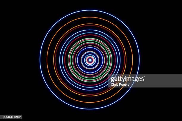 solar system rendering - orbiting fotografías e imágenes de stock