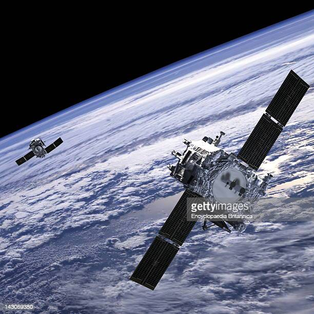 Solar Terrestrial Relations Observatory Satellites, Artist'S Conception Of Solar Terrestrial Relations Observatory Satellites Deploying Solar Panels...