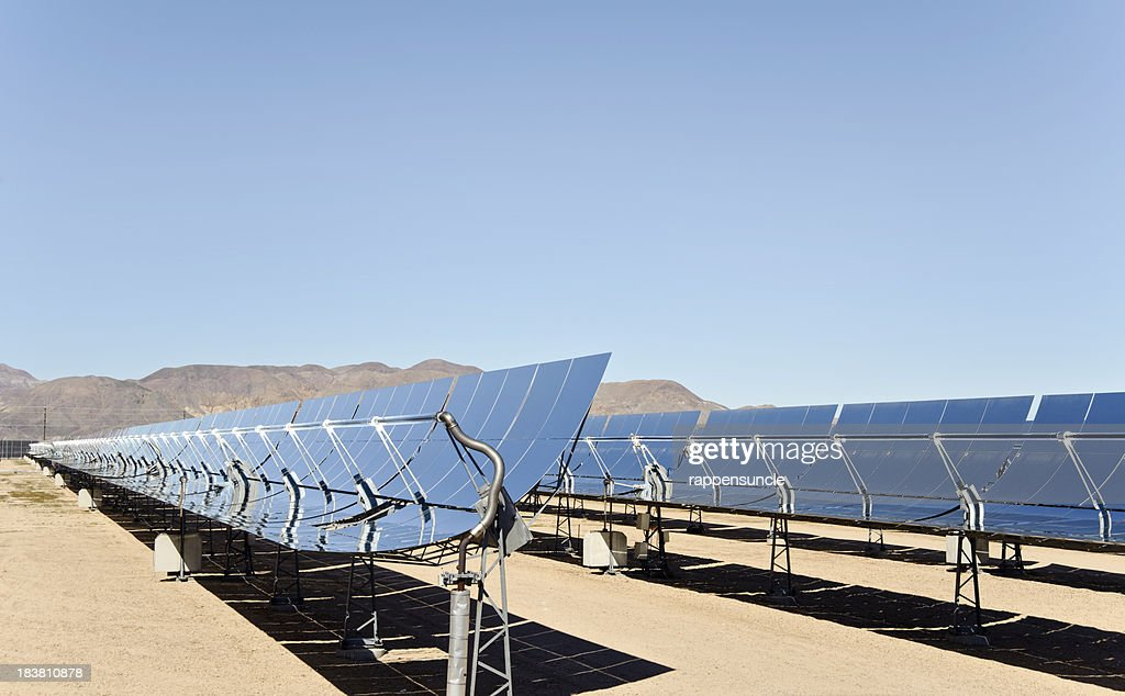 solar thermal farm : Stock Photo
