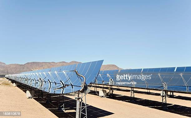 solar thermal farm - trough stock photos and pictures