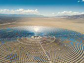 Solar Thermal Power Station Aerial View