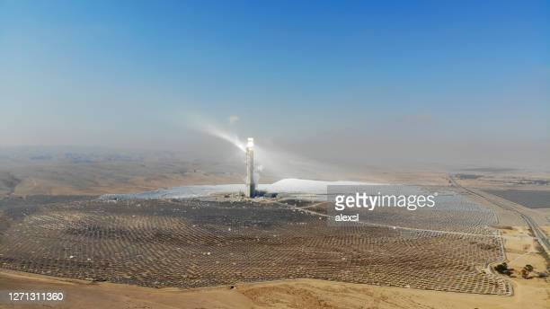 solar thermal power station - solar mirror stock pictures, royalty-free photos & images