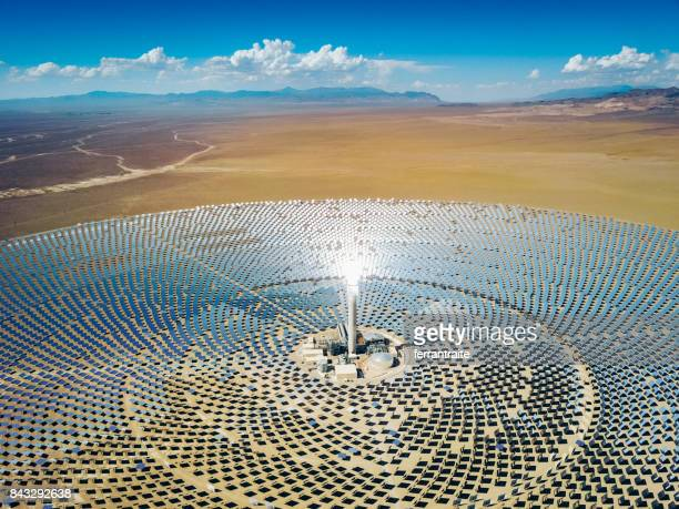solar thermal power station - tonopah,_nevada stock pictures, royalty-free photos & images
