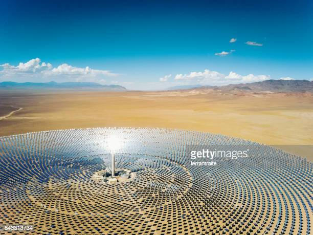 solar thermal power station - solar powered station stock pictures, royalty-free photos & images