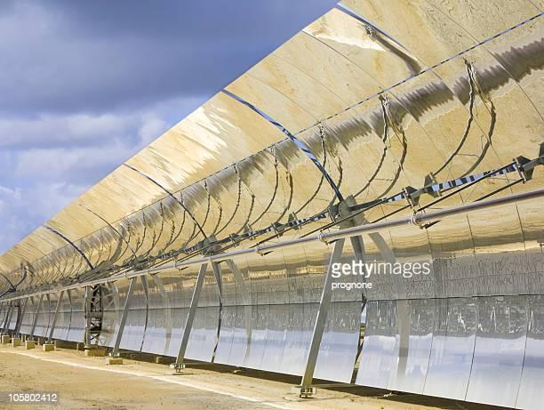solar trough collector parabolic - trough stock photos and pictures