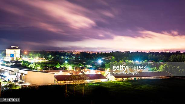 solar violet sky at 02.00 am. - utc−10:00 stock pictures, royalty-free photos & images