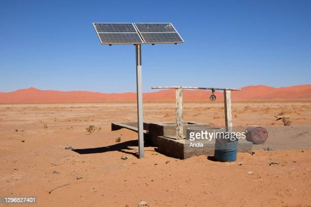 Solar water pumping system in the south of Algeria, Illizi Province, Djanet District, Sahara.