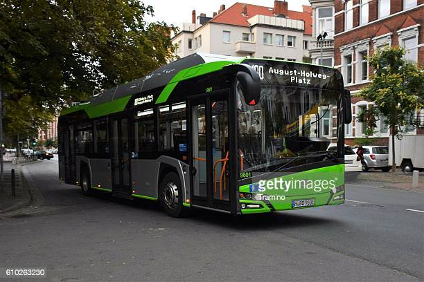 Solaris electric bus on the street