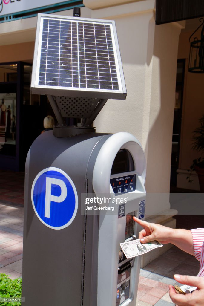 A Solar Powered Parking Meter Pay Station At Plaza Real News Photo