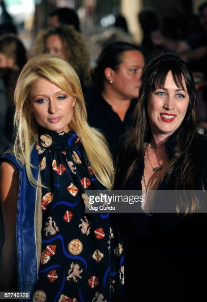 Solcialite Paris Hilton and director Adria Petty arrive at the Paris Not France premiere during the 2008 Toronto International Film Festival held at...