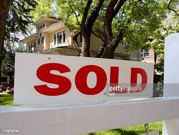Verkauft Immobilien-Zeichen