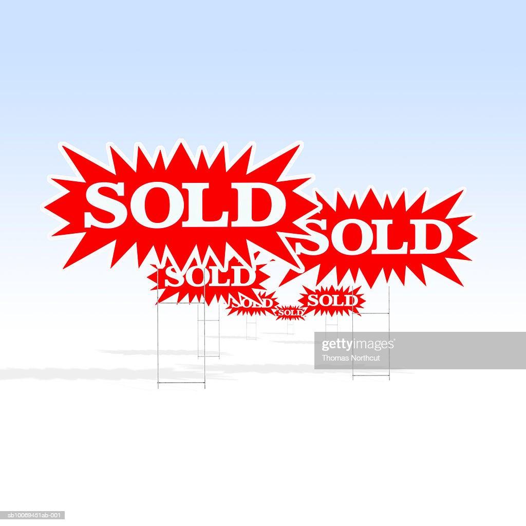 Sold signs : ストックフォト