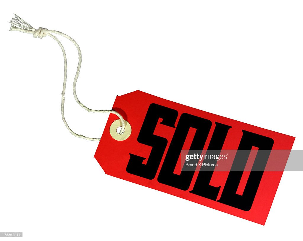 Sold tag : Stock Photo