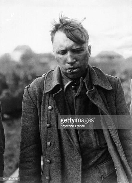 Soldat d'elite allemand designe par la Wehrmacht comme etant un des responsables de la mort de prisonniers americains pendant la Bataille des...