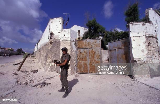 Soldat français le 25 décembre 1992 à Mogadiscio en Somalie